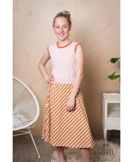 Smockdress maxi Diagonal Pink - ba*ba kidswear