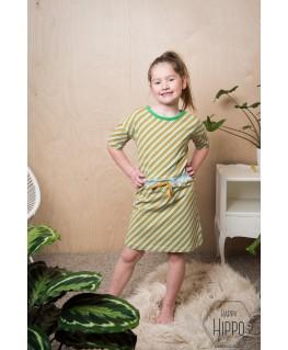 Blanche Dress Diagonal Blue - ba*ba kidswear
