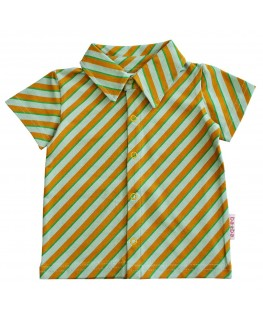 Kleedje Thea Stripes Ice Blue Bamboo - Froy&Dind
