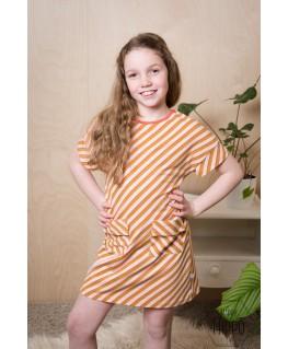 T-shirt Dress Diagonal Pink - ba*ba kidswear
