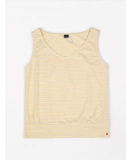 Loose top jersey yellow stripes - Mundo Melocotón