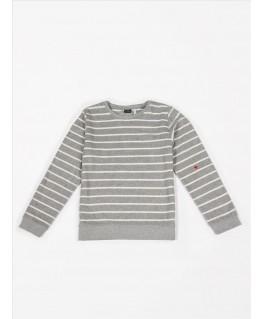 Sweater terry stripes grey melee - Mundo Melocotón
