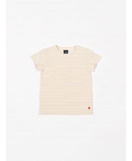 T-Shirt jersey yellow stripes - Mundo Melocotón