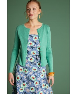 Cardi Roundneck cocoon Opal Green - King Louie