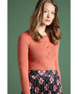 Cardi Rouncneck cocoon Dusty Rose - King Louie