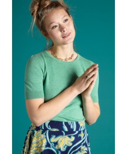 Agnes top cocoon opal green - King Louie