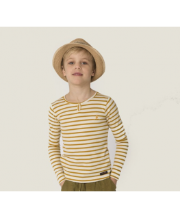 Beau T-shirt - Butter Cream Stripe - A MONDAY in Copenhagen