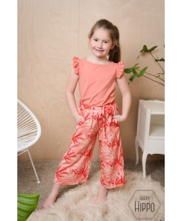 Lana Wide Trousers palm-leaves - Lily Balou