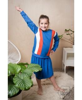 Shirt White Blue Stripe - Little Label