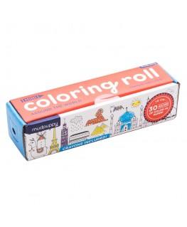 Coloring Roll / Around the world - +3j - Mudpuppy