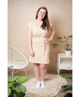 Bianca V-neck Dress sorbet - Lily Balou