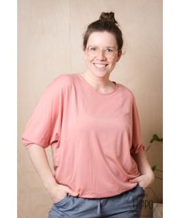 Simona 3/4 sleeve T-Shirt crabapple - Lily Balou