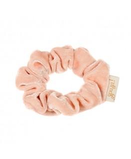 Haarscrunchie Titia, fluweel pastel zalm - Souza!