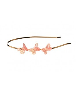 Diadeem Vivian, roze vlinders - Souza!