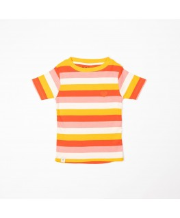 The Bell T-shirt - Strawberry Ice Stripes - Albababy