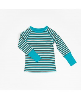Our Favorite Rib Blouse - Algiers Blue Stripes - Albababy
