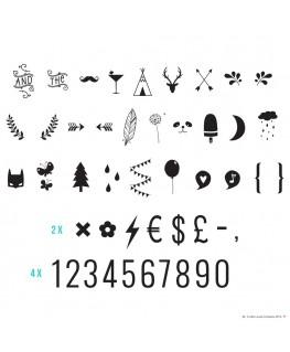 Lightbox symbol set: Numbers & symbols - A Little Lovely Company