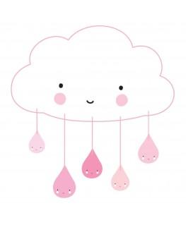 Mobiele: Wolkje roze +3j - A Little Lovely Company