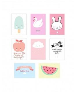 Poster Lightbox Sheets Little Girl - A Little Lovely Company