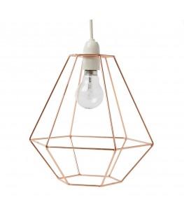 Copper Wire Diamond Lampshade - sas&belle