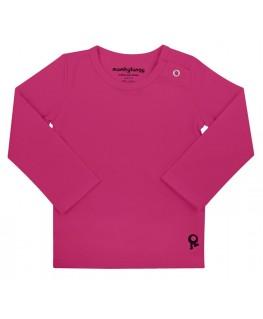 T-Shirt baby lange mouwen / Fuchsia - Mambotango