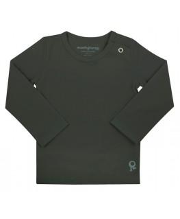 T-Shirt baby lange mouwen / Zwart - Mambotango