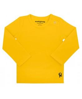 T-Shirt baby lange mouwen / Geel - Mambotango