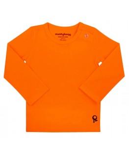 T-Shirt baby lange mouwen / Oranje - Mambotango
