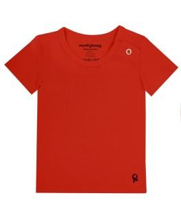 T-Shirt baby korte mouwen / Rood - Mambotango