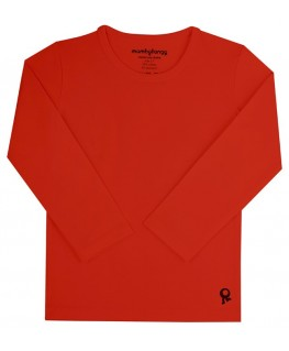 T-Shirt lange mouwen / Rood - Mambotango