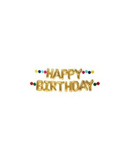 Happy Birthday balloon garland - Meri Meri