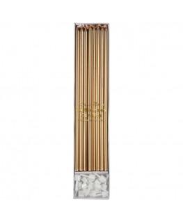 Gold long candles - Meri Meri