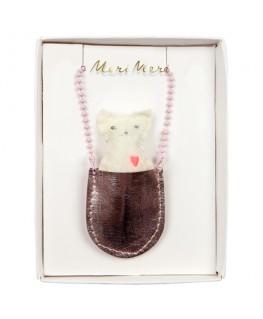 Cat pocket necklace - Meri Meri