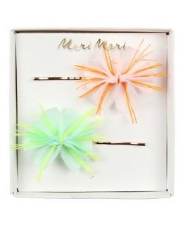 Fabric floral hair slides - Meri Meri