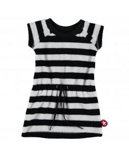Dress Terry stripe Black/White - Kik*Kid