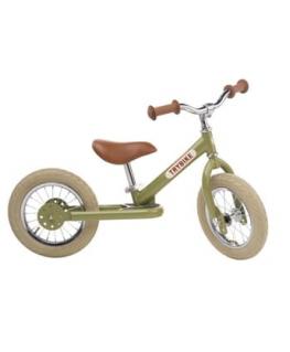 Loopfiets Staal Vintage green - Trybike - Happy Hippo