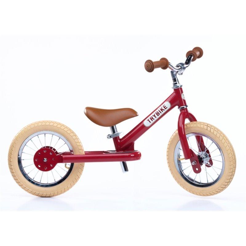 Loopfiets Staal Vintage red - Trybike - Happy Hippo