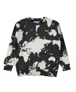 Sweater Madsim World map dark front - Molo
