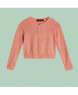 Cardi Roundneck Lapis - Melba Pink - Petit Louie