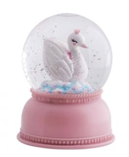 Snowglobe en lamp Zwaan - A Little Lovely Company