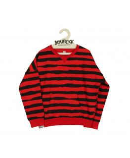 Sweater Red Stripes - Six Hugs & Rock'n Roll