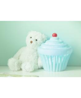 Blauwe cupcake lamp - LittleLampCompany