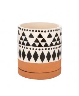 Scandi Boho Tribal Geo Mini Planter - Sass & Belle