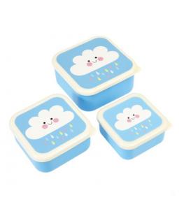 Set of 3 Snack Boxes Happy Cloud - Rex
