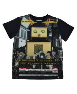 T-shirt Raddix Peace Bot front - Molo - Happy Hippo