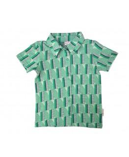 Hemdje Jacquard green stripes - Ba*Ba babywear