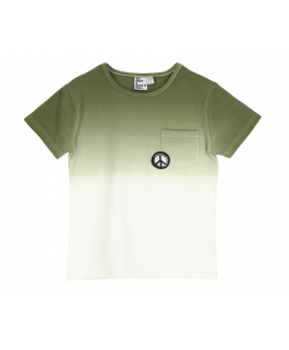 T-shirt gradient Khaki front - Six Hugs & Rock'n Roll - Happy Hippo
