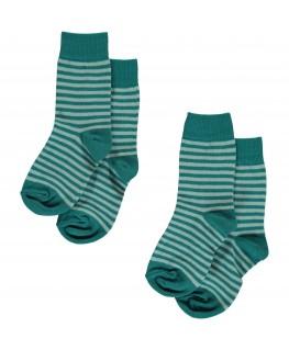 Socks 2-pack blauwe streep - Maxomorra