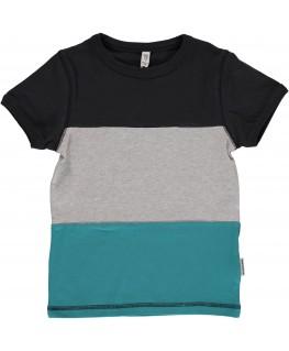 T-shirt Block zwart - Maxomorra