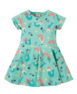 Little Spring Skater Dress, St Agnes Mermaid Magic - Frugi front
